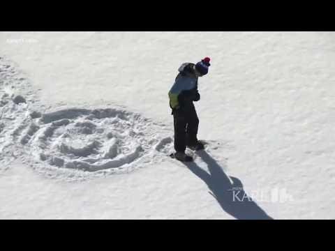 New snow art installation at Target Field