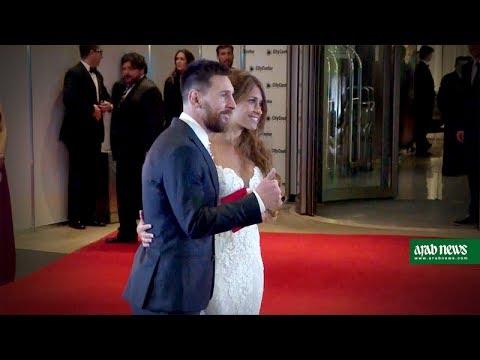 Star footballers celebrate Messi wedding in Argentina