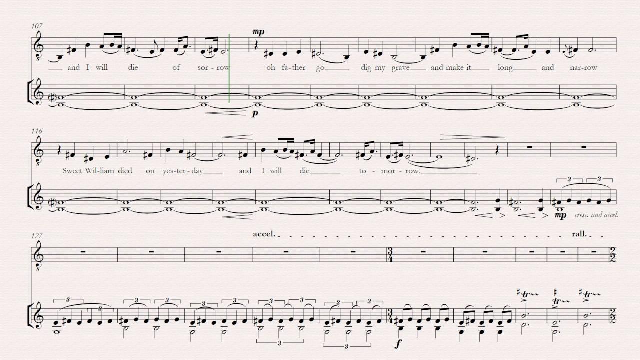 Barbara Allen for Solo Violin and Tenor/Baritone