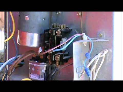 hqdefault fix your own ac how to change a contactor youtube mars 780 contactor wiring diagram at gsmx.co