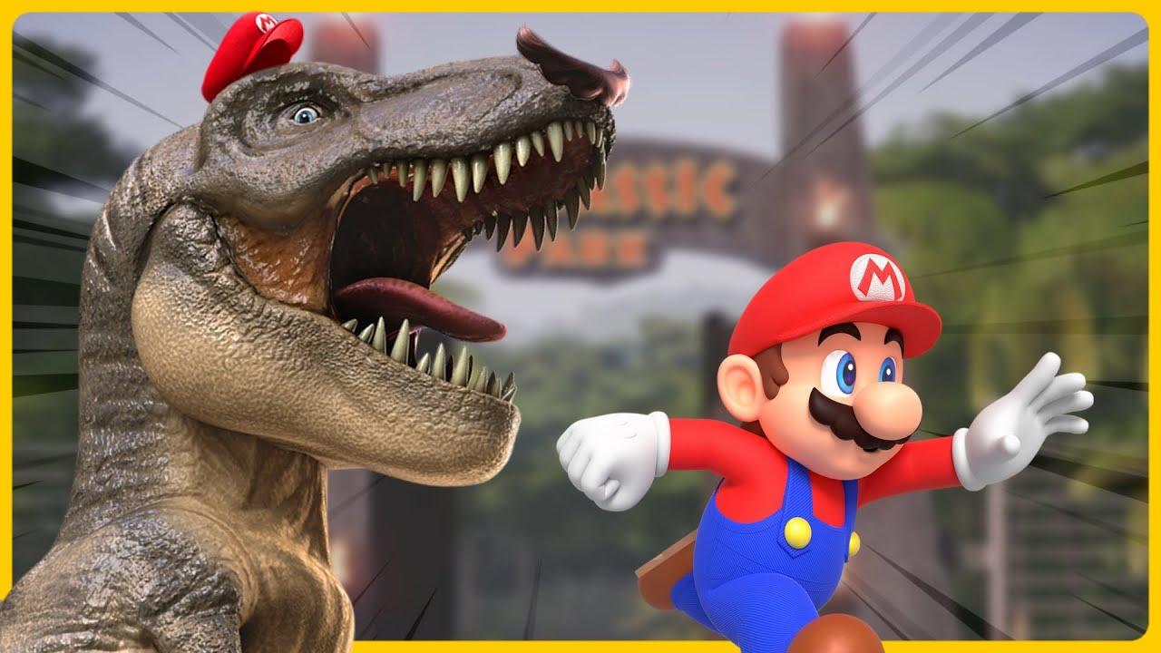 Mario in JURASSIC PARK!