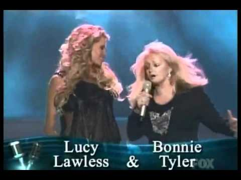 Lucy Lawless with Bonnie Tyler Week 5 28 September 2006