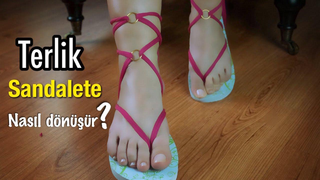 Terlikten sandalet nasıl yapılır