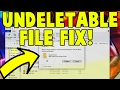 How To Delete Undeletable File s and Folders on Windows 10 8 7  File Not Found Error
