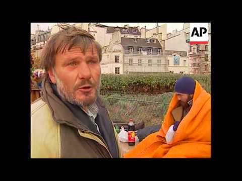 France - Increase Of Homeless In Paris