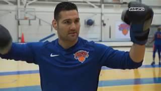Weidman's World | Chris Weidman Throws Hands With Enes Kanter | New York Knicks | MSG Networks