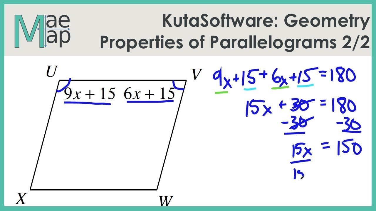 Kuta Geometry Properties Of Parallelograms Part 2