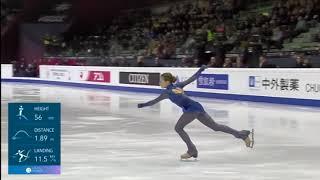 Александра Трусова Первый в истории Четверной Флип в женских соревнованиях ФГП Турин 2019