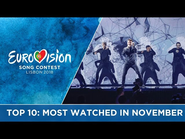 TOP 10: Most watched in November 2017 - Eurovision Song Contest