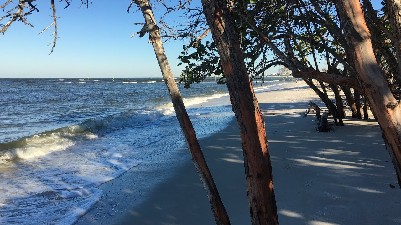 walking on the beach at delnor wiggins pass state park in naples fl
