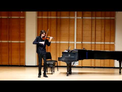 Stephen Waarts, violin | Bartok: Sonata for solo violin