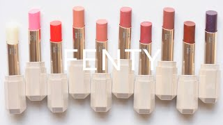 Fenty Beauty Slip Shine Sheer Shiny Lipsticks | Review and Swatches