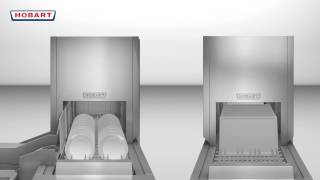 Hobart Warewash - FTNi and FTPi Series twinLINE Function - Flight Type Commercial Dishwasher