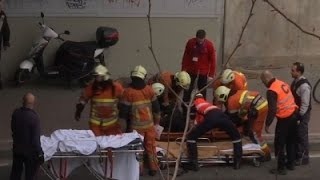 raw explosion in brussels metro station