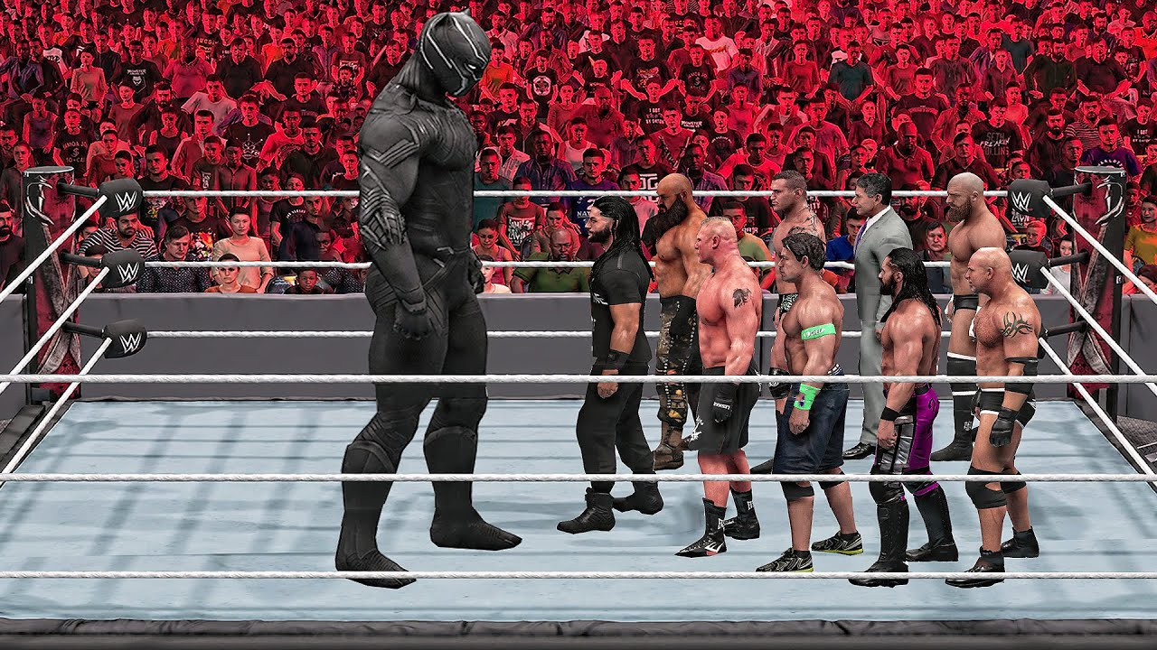 Download WWE 2K Giant Black Panther vs Mini WWE Superstars Match!