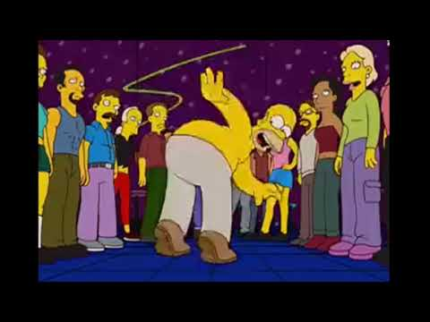 The Simpsons - Homer Dancing At Gay Club (S14Ep17)