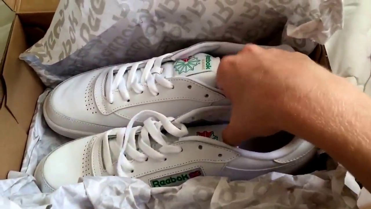 c258445cf3d7a Reebok classic club c 85 first look DS - YouTube