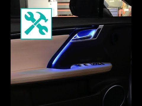 lexus rx door led ambient light retrofit