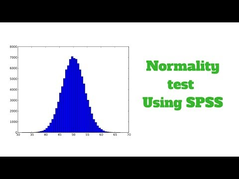 Easy way to do Normality test using SPSS software