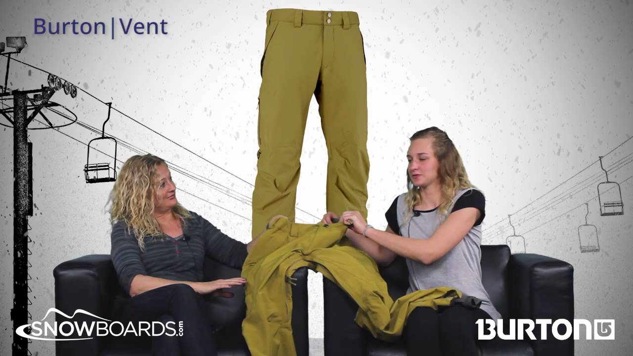 2016 Burton Vent Mens Pant Overview By Snowboardsdotcom Youtube