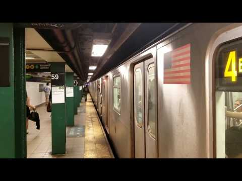MTA NYC Subway: (4) (5) (6) (N) (R) (W) trains at Lexington Ave - 59 St