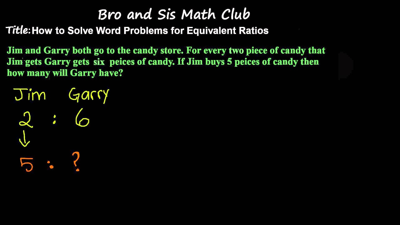 Word Problem for Equivalent Ratios - 7th Grade Math - YouTube