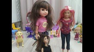 Duru Barbie Car Play with Cute Monkey - barbie gril -barbie movie -oyuncak bebek baloya hazırlanıyor