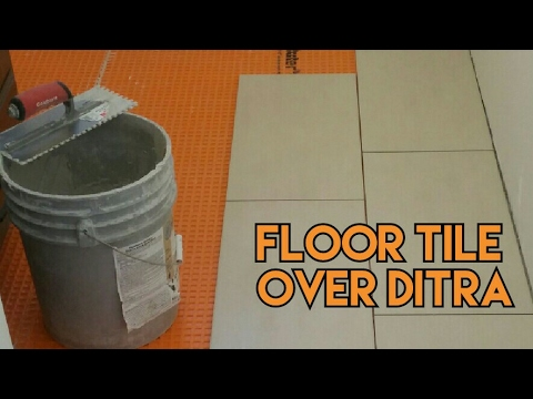 How To Set Tile Over Ditra Underlayment For Tile Floor Youtube