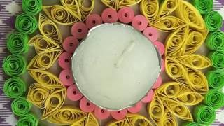 DIY Quilling Diwali Diya base