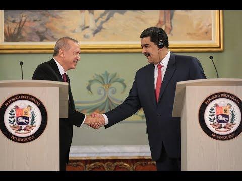 Rueda de prensa Maduro-Erdogan en el Palacio de Miraflores, 3 diciembre 2018