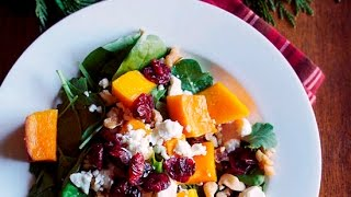 Butternut Squash Recipe: Roasted Butternut Squash And Spinach Salad