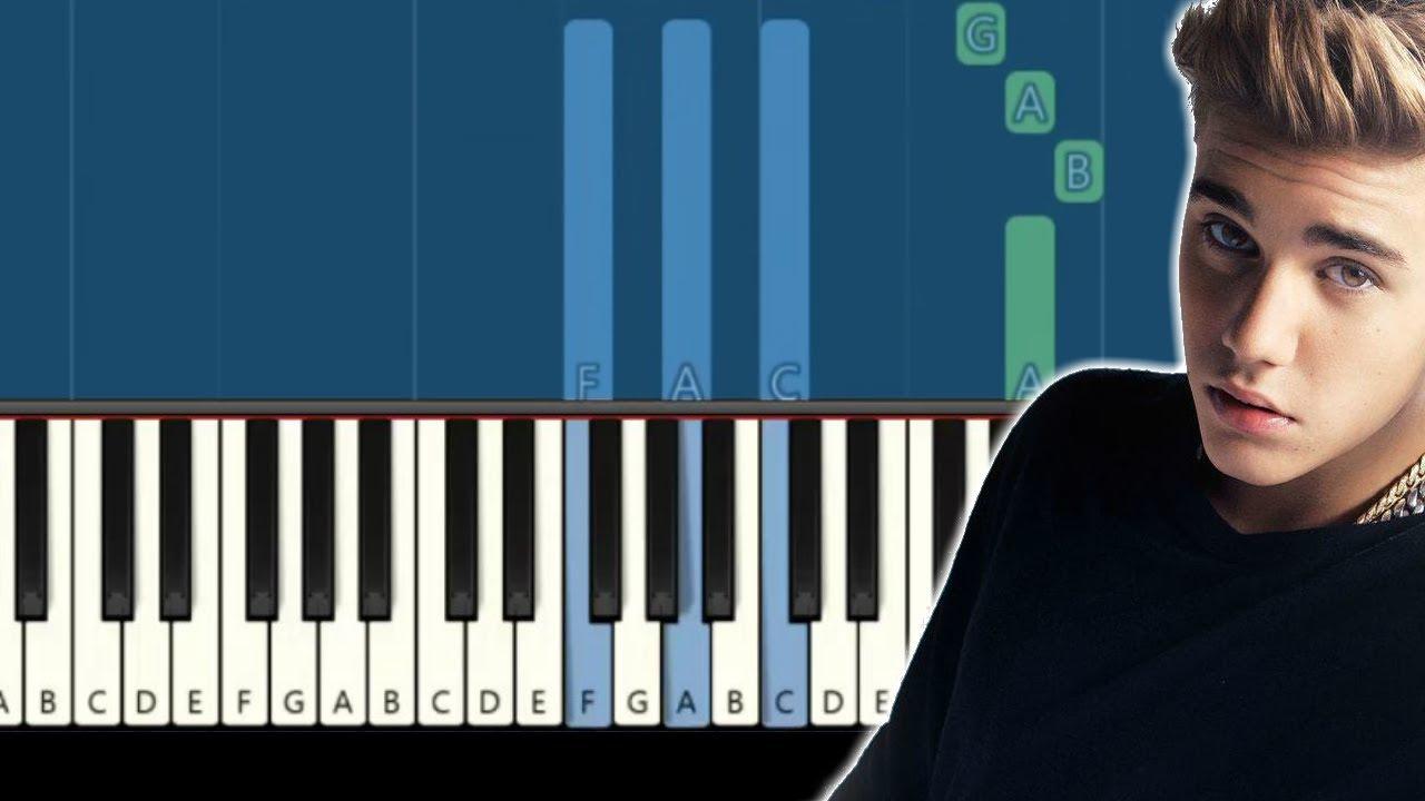 "Download Justin Bieber - ""Purpose"" [Synthesia] (Piano tutorial)"