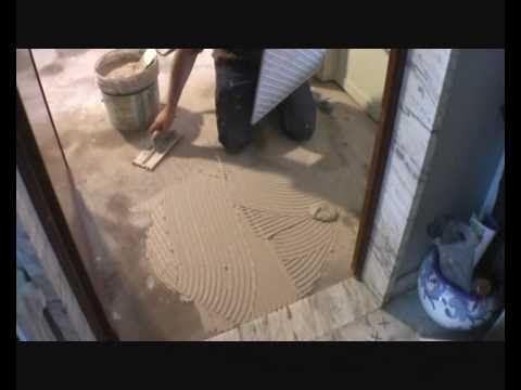 Come posare le piastrelle pavimento. - YouTube