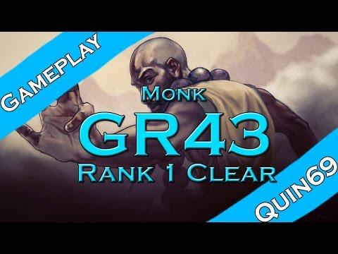 G43 Monk Clear! #Rank 1 world (No sound, Twitch muted it)