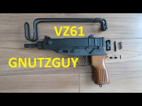 Complete VZ-61 Skorpion folder disassembly  CSA VZ61 & Zastava M84  Scorpion