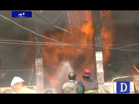 انارکلی بازار آتشزدگی: 40 سے زائد دکانیں جل کر راکھ