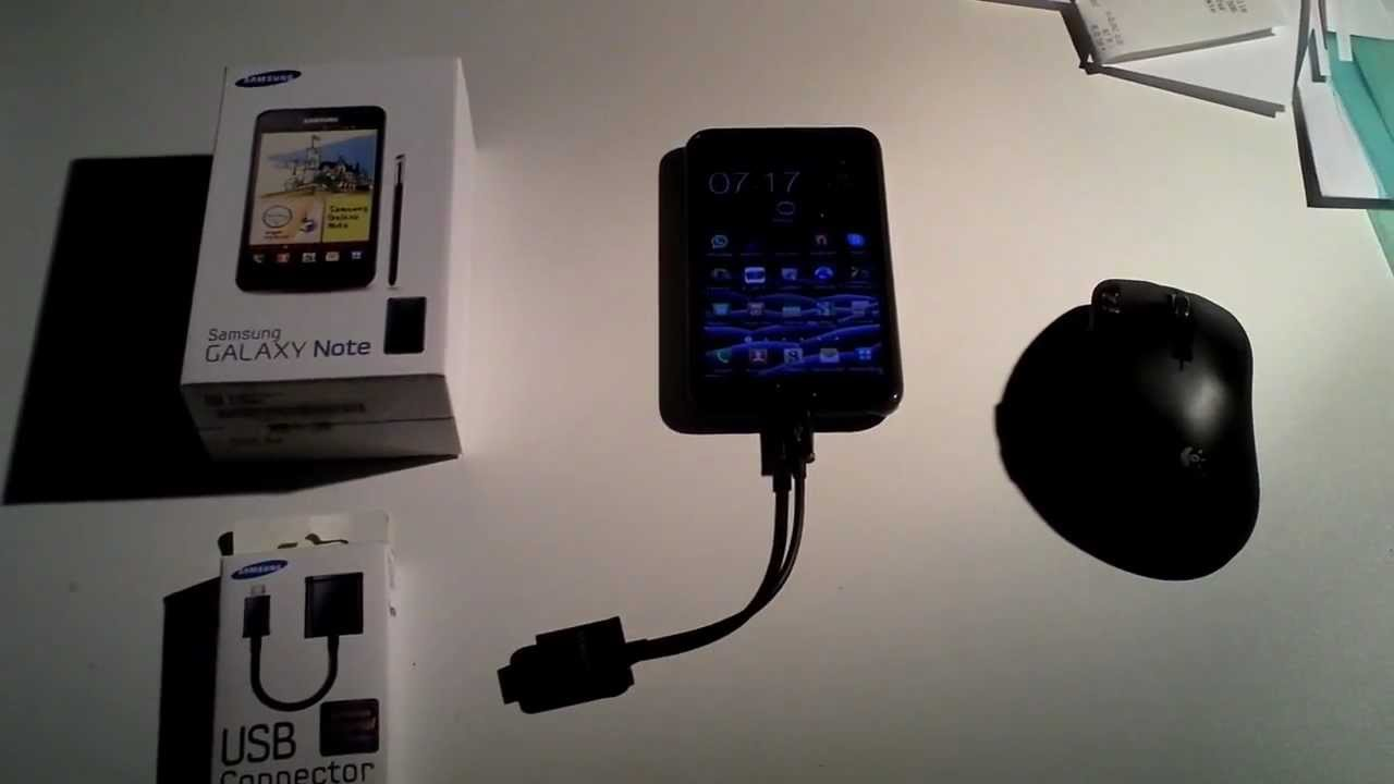 Logitech G700 and H760 Connected to a Samsung Galaxy Note via USB Connector