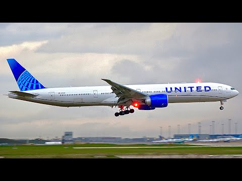 (4K) Beautiful Evening Plane Spotting at Chicago O'Hare Airport