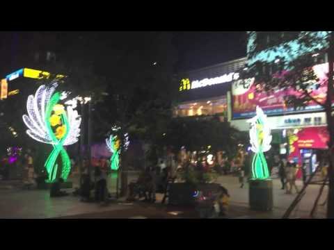 Walking around Times Square, Ho Chi Minh City, Vietnam