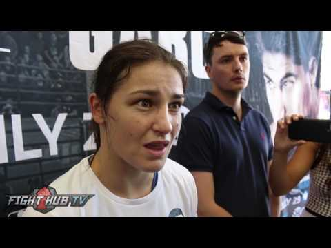Katie Taylor reacts to Conor McGregor sparring Paulie Malignaggi