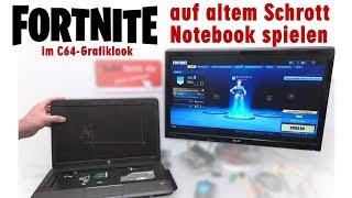 Fortnite auf altem Schrott-Notebook spielen im C64 Grafiklook - [4K]