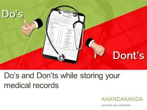 Do's and Don'ts while storing your medical records