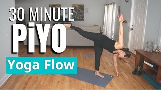 PiYO Slow Yoga Flow Workout | At Home No Equipment #48