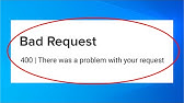 Roblox Problem 400 Roblox Bad Request 400 There Was A Problem With Your Request Error Android Ios Fix Youtube