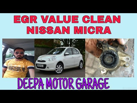 NISSAN MICRA MILEAGE AND BLACK SMOK PROBLEM EGR VALUE CLEANING