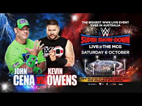 Image result for John Cena's Match At WWE Super Show-Down Event In Australia Revealed