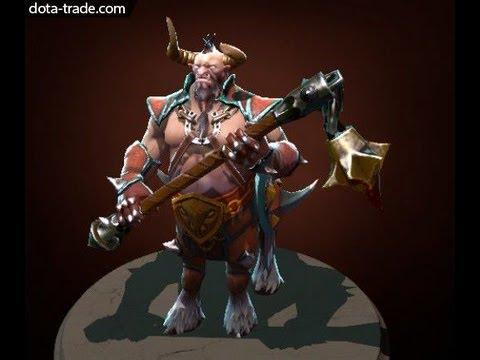 dota 2 centaur warrunner flail of omexe weapon rare set review