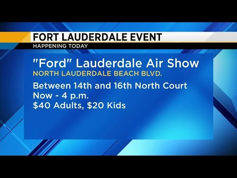 Fort Lauderdale Air Show exhibits open