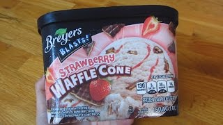 Breyers Ice Cream - Strawberry Waffle Cone Unboxing Thumbnail