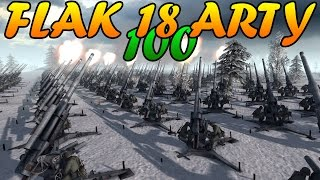 Men of War Assault Squad 2 - 100 FLAK 88 ARTILLERY vs DEFENSIVE LINE, JUMBOS - Editor Scenario #58